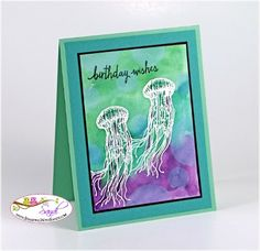 Stampin Up From Land to Sea Stamp Set, card by Sandi @ www.stampingwithsandi.com