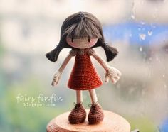 fairyfinfin: Crochet Girl doll, girl doll, amigurumi doll, cute...