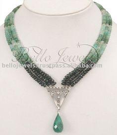 Source Colombian & Zambian Emerald Beads Necklace Regina on m.alibaba.com