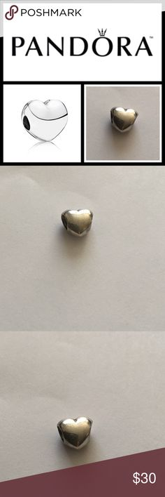 Pandora Sterling Silver heart ❤️ Pre love, still in good condition- offers or bundle for discount! Pandora Jewelry Bracelets