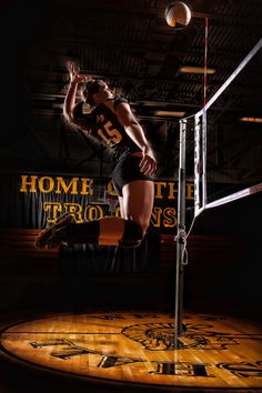 Senior Pictures / Volleyball / Spike / Jump / Net
