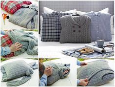 Old Sweater Turned Chic Pillow