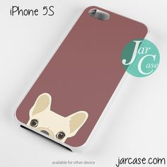 Cute French Bulldog Dark Red Phone case for iPhone 4/4s/5/5c/5s/6/6 plus