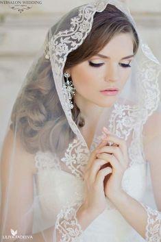 21 Wedding Hairstyles That Look Good With Veils ❤ See more: http://www.weddingforward.com/wedding-hairstyle-ideas-with-veils/ #weddings #hairstyles