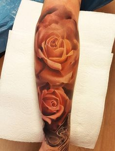 3D Pink rose tattoo - 100+ Meaningful Rose Tattoo Designs  <3 <3