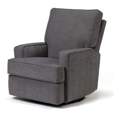 Best Chairs Kersey Swivel Glider Recliner - Steel