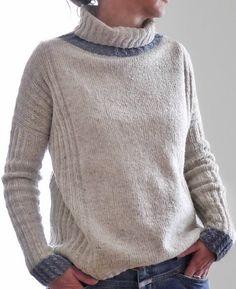 Женский свитер без швов спицами