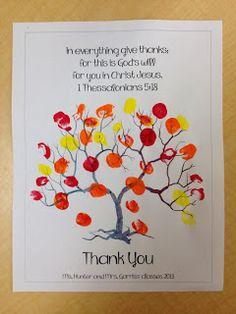 Thankful Kindergarteners