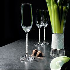 """Swarovski Crystalline Toasting Flutes (set of 2)  $390.00 (Has been on my """"want"""" list forever)"""