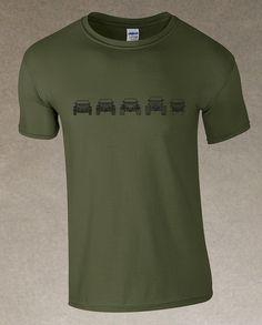 Evolution of Trail JK's Men's T-Shirt - Military Green – It's a Jeep Shirt! #itsajeepshirt