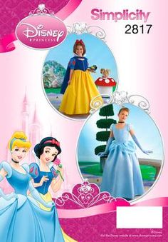 Girl Snow White and Cinderella Costume pattern 2817 Simplicity