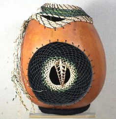 Gourd and Seagrass Basket with Dream Catcher and by InnerGarden