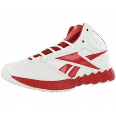 Red and White Basketball shoes by Reebok!