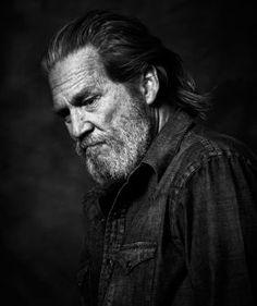 A portrait of Jeff Bridges by the photographer Andy Gotts: Jeff Bridges, Old Celebrities, Beautiful Celebrities, Beautiful Men, Celebs, Gorgeous Hair, Actors Male, Actors & Actresses, Andy Gotts