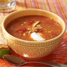 Chicken-Tortilla Soup | MyRecipes.com #MyPlate #protein #vegetable