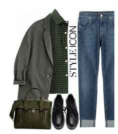 Vintage loose blazer. by gul07 on Polyvore featuring WithChic, 7 For All Mankind, 3.1 Phillip Lim, vintage, women's clothing, women's fashion, women, female, woman and misses