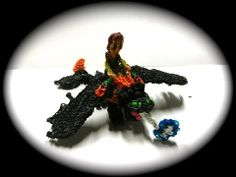 Rainbow Loom Dragon:TOOTHLESS Part 2/11. Designed and loomed by Cortney Nicole. Click photo for YouTube tutorial. 05/10/14.