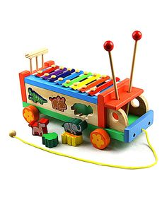 This Red Eight-Tone Puzzle Bug Xylophone by New Dimensions is perfect! #zulilyfinds