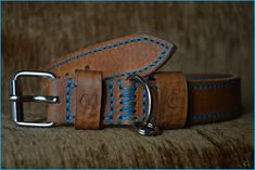 Leather dog collar Handmade from natural Vachetta