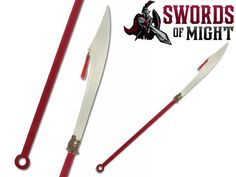 Battle ready Hanwei Pudao with tempered 1566 high carbon steel blade and oak shaft with red wrap Kung Fu Clothing, Spears Weapon, Cool Swords, Weapon Of Mass Destruction, Fantasy Weapons, High Carbon Steel, Blade, Survival, Bows