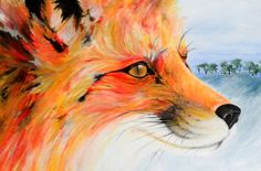Fox painting from piccsy #boden #magicalmenagerie