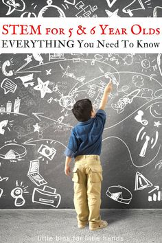 Early Elementary STEM projects for kindergarten and 1st grade age kids. Hints and tips for setting up STEM projects for young kids.