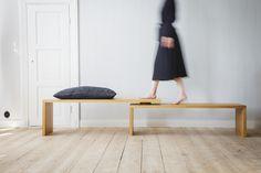 Bench design Andreas Haals & Tanja Krokvik Bench Designs, Entryway Bench, Furniture, Home Decor, Worktop Designs, Entry Bench, Hall Bench, Decoration Home, Room Decor