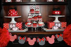 Mickey & Minnie Mouse Themed First Birthday Party
