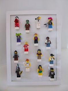 This would be cool on a magnetic white board. Glue small magnet strips to one side of 2x2 LEGO bricks.