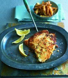 Crispy breadcrumbed lemon sole