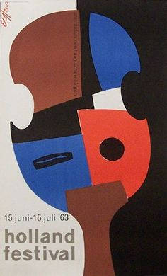 Poster for Holland Festival 1963 by Dick Elffers