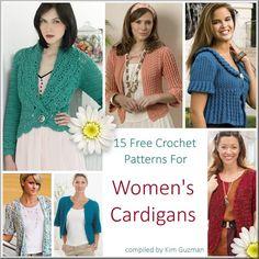 Free Crochet Pattern Link Blast: Womens Cardigans