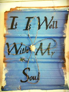 Hand painted tin sign with barbed wire cross and by RusticFinish, $40.00