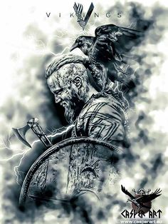 Vikings Ragnar by thecasperart