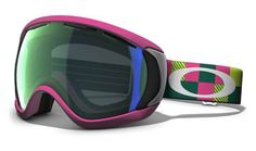 £111.99 Oakley Canopy Ski Goggles - Pink Digi-Camo / Emerald Iridium