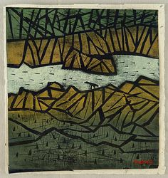 Tadashige Ono 1909-1990 - Mountain Stream - artelino Art Auctions.
