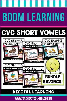 THIS IS AN INTERACTIVE DIGITAL RESOURCE. Download the preview to play a shortened version of the Boom Deck – this will help you decide if the resource is suitable for your students. ABOUT THIS BOOM DECK: Students will look at the picture, listen to the word, then tap on the word with the short vowel sound, from a choice of three words. This discounted bundle includes 5 sets of Boom Decks, one for each vowel.