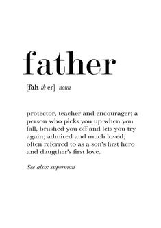 Best Dad Quotes, Happy Father Day Quotes, Family Quotes, Life Quotes, Happy Fathers Day, Quotes Quotes, Father Definition, Mom Quotes From Daughter, Sister Quotes
