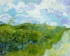 Vincent Van Gogh : Green Wheat Fields, Auvers : A spectacularly vibrant van Gogh painting was unveiled recently after going private nearly 50 years ago.  The bright colors are interesting considering that within weeks after painting it van Gogh killed himself.