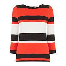 Oasis Compact Stripe Jumper, Multi/Orange