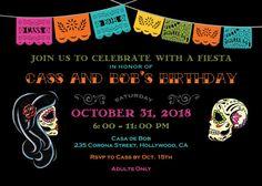 Dia de los muertos Printable Invitation by Vintagebabydoll on Etsy