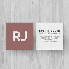 Personalized Rose Pink Square Business Cards, Modern Customized Contact Cards, Minimal Name Card, Minimal Design, Square Business Card