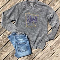 7c4cebaa Minnesota skol shirt, minnesota football shirt, skol chant shirt, minnesota  shirt, minnesota home shirt, home state shirt, grey sweatshirt