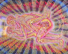 Psychedelic Sex by Alex Grey Alex Grey, Alex Gray Art, Art Visionnaire, Psychadelic Art, Psy Art, Process Art, Visionary Art, Sacred Art, Shiva Shakti