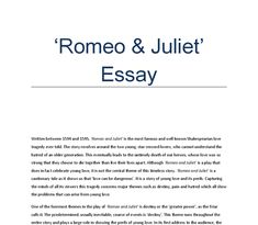 Romeo And Juliet Essay Love At First Sight - Opinion of experts
