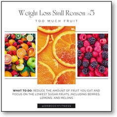 """""""Everyone's fruit tolerance is different, and the only way to know if fruit is a problem for you is to experiment. If your weight loss has stalled, reduce the amount of..."""" Weight Loss Goals, Healthy Weight Loss, Low Sugar, Superfoods, Berries, Low Carb, Fruit, Experiment, Super Foods"""
