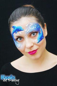 Dolphin facepaint mask by Ksenia Dudkina