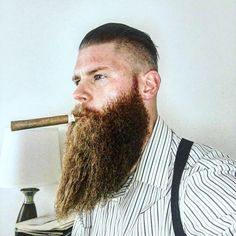 Big Beard, Best Beard Styles, Cigar Men, Good Cigars, Beard Care, Barbershop, Studs, Hipster, Mens Fashion