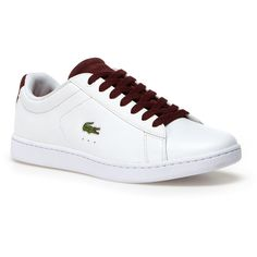 b8987fefad127 White Women s Carnaby Evo Leather Trainers (300 BRL) ❤ liked on Polyvore  featuring shoes, sneakers, lacoste sneakers, white sneakers, tennis  trainer, ...