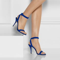 59.00$  Buy now - http://ali2fv.shopchina.info/go.php?t=32662586334 - Royal Blue Suede Women Sandals Stilettos Ankle Strap OL Sandal Shoes High Heels Chaussure Femme Ladies Sandal Shoes Actual Photo  #magazineonline